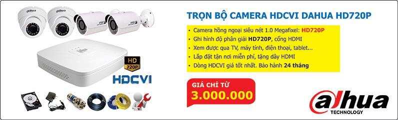 Bộ camera HDCVI 720P