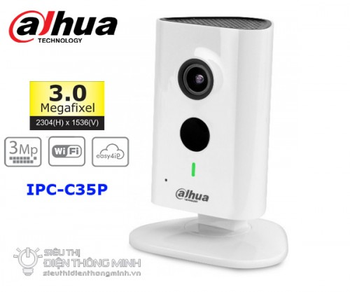 Camera IP Dahua IPC-C35P (3.0MP, wifi, góc rộng)